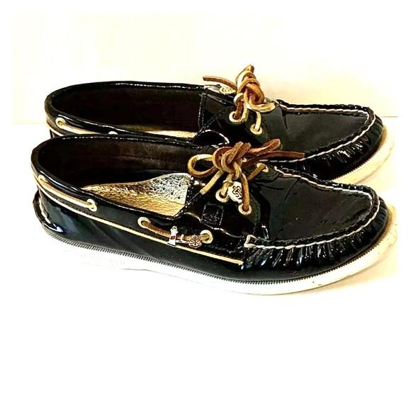 Black Patent Leather Boat Shoes | Poshmark